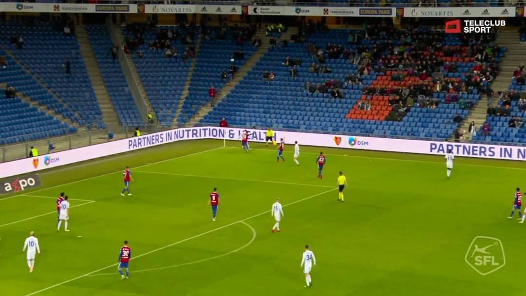 51. Minute: Tor für FC Luzern von Shkelqim Demhasaj (Assist: Ruben Vargas)
