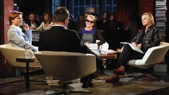 Debatte im «Literaturclub»: Stefan Zweifel, Rainer Moritz (von hinten),Hildegard E. Keller und Elke Heidenreich (rechts). Siggi Bucher/SRF