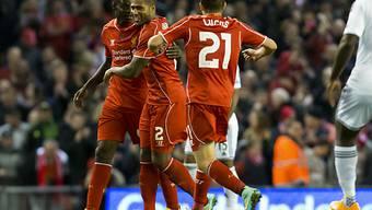 Mario Balotelli (l.) erzielte den Ausgleichstreffer für Liverpool