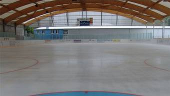 Das frische Eis in der Urdorfer Weihermatt.