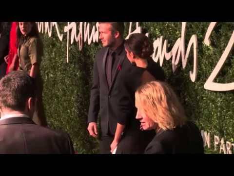 David und Victoria Beckham an den British Fashion Awards 2014 in  London