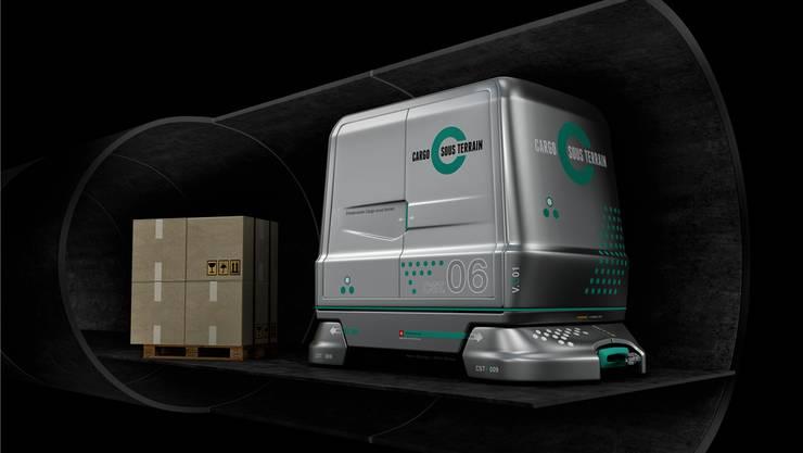 So sollen die Transportwagen von «Cargo Sous Terrain» aussehen.
