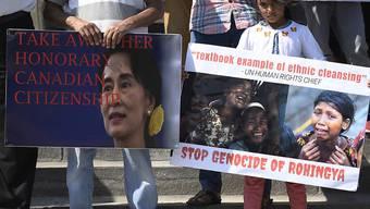 Menschenrechtler werfen dem Militär in Myanmar vor, grausame Menschenrechtsverletzungen begangen zu haben. Kritisiert wird auch Regierungschefin Aung San Suu Kyi, die ihre moralische Autorität nicht genutzt habe, um Verbrechen zu verhindern. (Archiv)