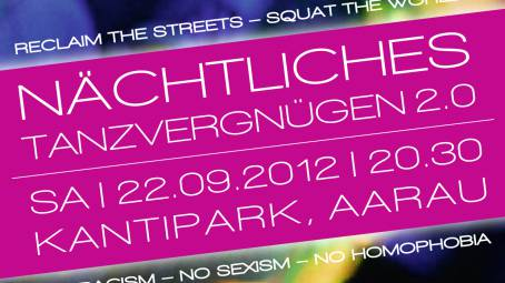 Ausschnitt vom Plakat zur Tanz-Demo am 22. September in Aarau.