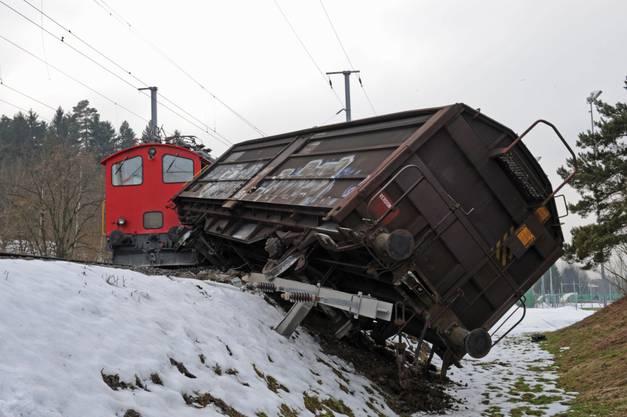 Güterzug bei Bassersdorf entgleist