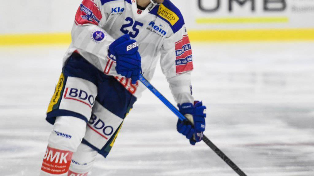 Thibaut Monnet und seine Teamkollegen in Kloten haben die Gewissheit: Man kann in der Swiss League noch gewinnen