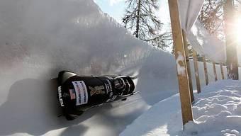 Bündner Wintersportorte an Kandidatur interessiert - hier die Bobbahn in St. Moritz (Archiv)