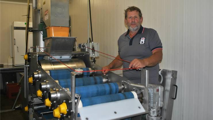 Die Mostpresse von Dieter Bürgi in Olsberg war bereits mehrfach in Betrieb.