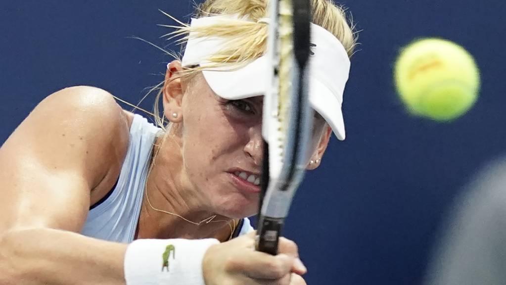 Jil Teichmann erwischte keinen guten Tag und schied am US Open in New York erneut in der 1. Runde aus.