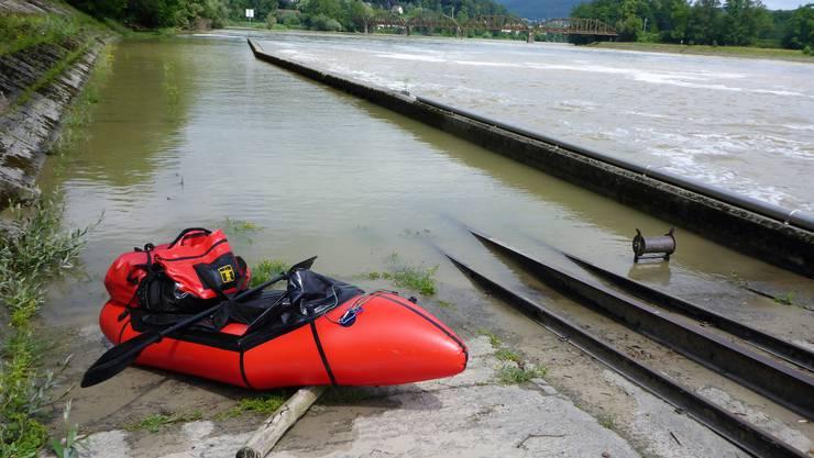 Einwasserung unterhalb Kes Kraftwerks Klingnau