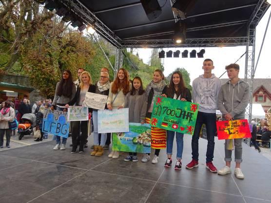 Sieger des Schülermalwettbewerb 700 Jahre Stadtrecht