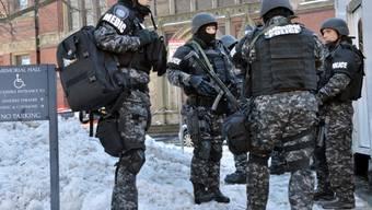 Sicherheitskräfte auf dem Campus von Harvard