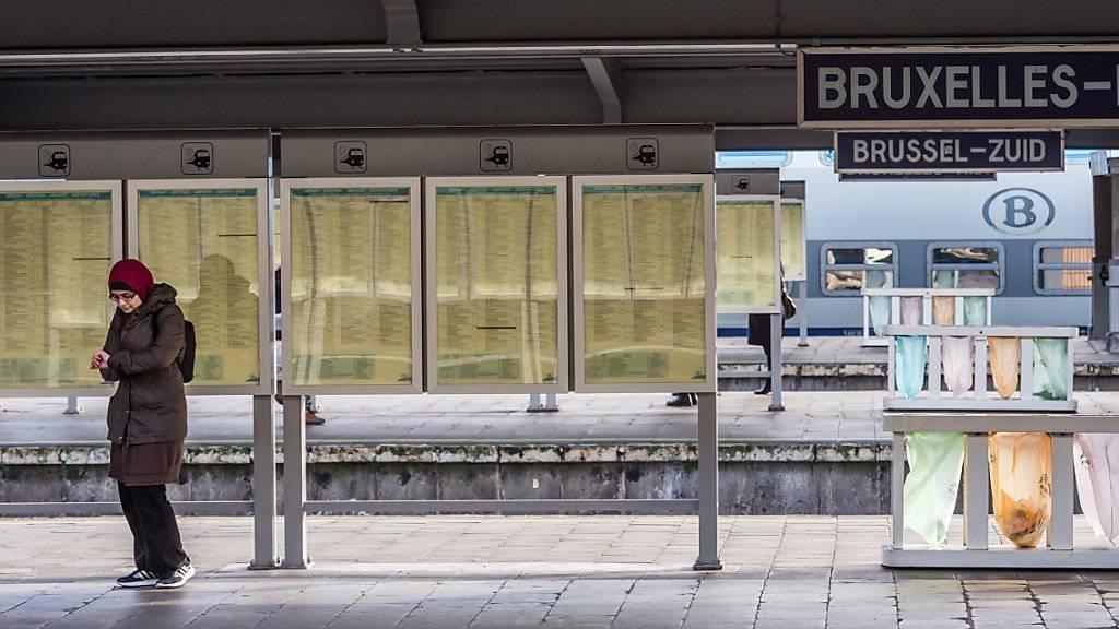 Keine Züge: Wegen eines Streiks bleiben viele Bahnhöfe Belgiens leer. (Archiv)