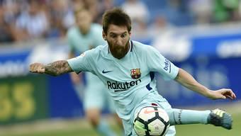 Lionel Messi erzielte seine ersten Meisterschaftstore für den FC Barcelona