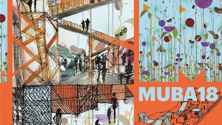 Skizzen zur neuen Muba. Konkret sind die Pläne der Messehalle 2, wo es künftig Zonen statt aneinandergereihte Stände gibt.