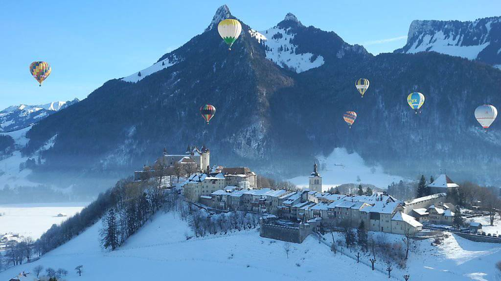 Bei besten Wetterbedingungen konnte in den Waadtländer Alpen das 39. Heissluftballon-Festival durchgeführt werden.