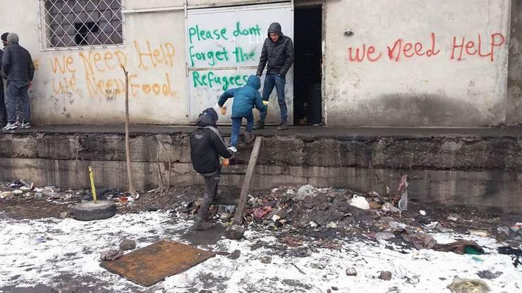 Szenen aus Belgrad im Januar 2017, von Borderfree Association eingefangen.