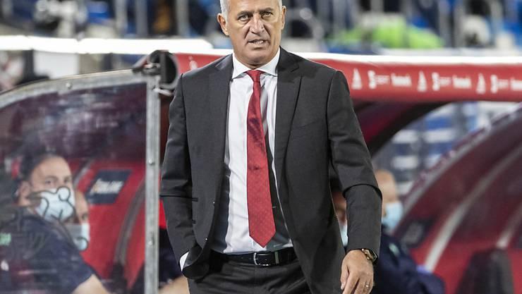 Vladimir Petkovic konnte trotz der Niederlage gegen Spanien der Partie viel Gutes abgewinnen