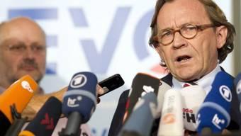 Alexander Kirchner (l) und Ulrich Weber an der Medienkonferenz