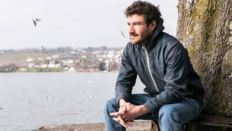 Frédéric Zwicker, am See in seiner Heimatstadt Rapperswil.