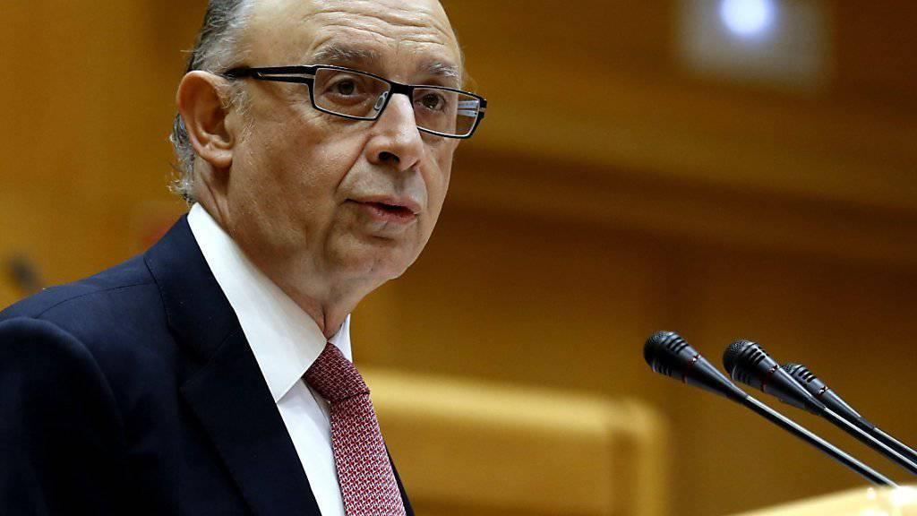 Offenherzige Äusserungen: Spanischer Finanzminister Cristobal Montoro(Archiv)