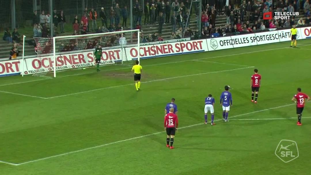 17. Minute: Olivier Jäckle verwandelt den dem FCA zugesprochenen Penalty eiskalt zum 2:0