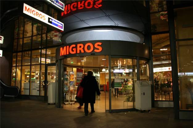 Die Migros-Filiale am Bahnhof Baden.