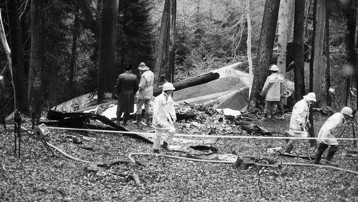 Beim Absturz der DC-9 im Landeanflug auf den Flughafen Kloten kamen alle 46 Passagiere und Crew-Mitglieder ums Leben.