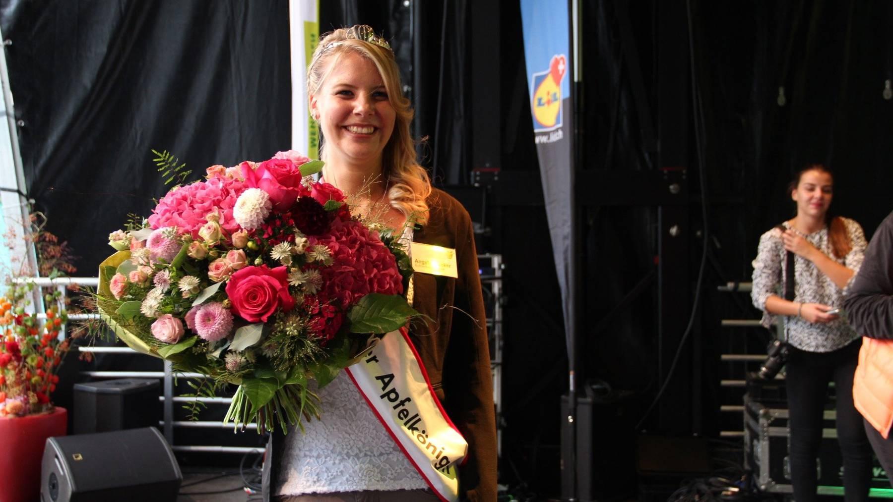 Die neue Thurgauer Apfelkönigin Angela Stocker.