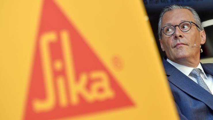 «Unser Ziel ist es, der Konsolidator zu sein in einem Markt, der sehr fragmentiert ist»: Sika-Präsident Hälg hat nun grosse Pläne.
