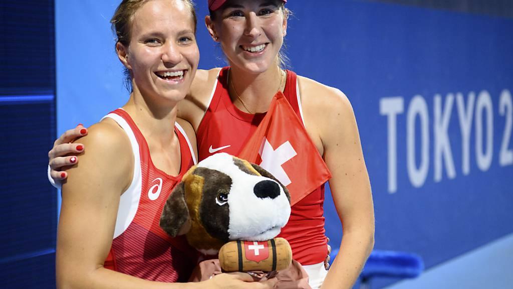 Strahlen Belinda Bencic und Viktorija Golubic am Sonntag über Gold - oder müssen sie sich mit Silber «begnügen»?