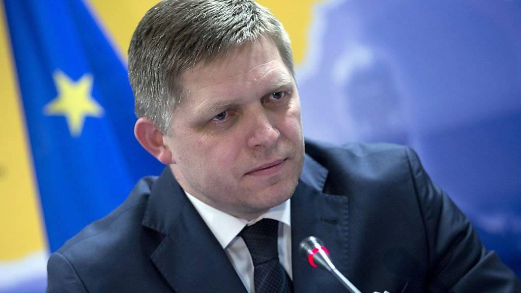 Ihm reicht's: Der slowakische Regierungschef Robert Fico kündigt Klage beim Europäischen Gerichtshof gegen die Flüchtlingsverteilung in der EU an (in einer Aufnahme vom März 2014).