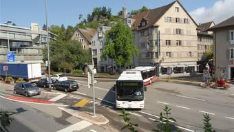 Für das Projekt Busachse Ost/Schulhausplatz in Baden sind insgesamt 32 Millionen Franken vorgesehen.