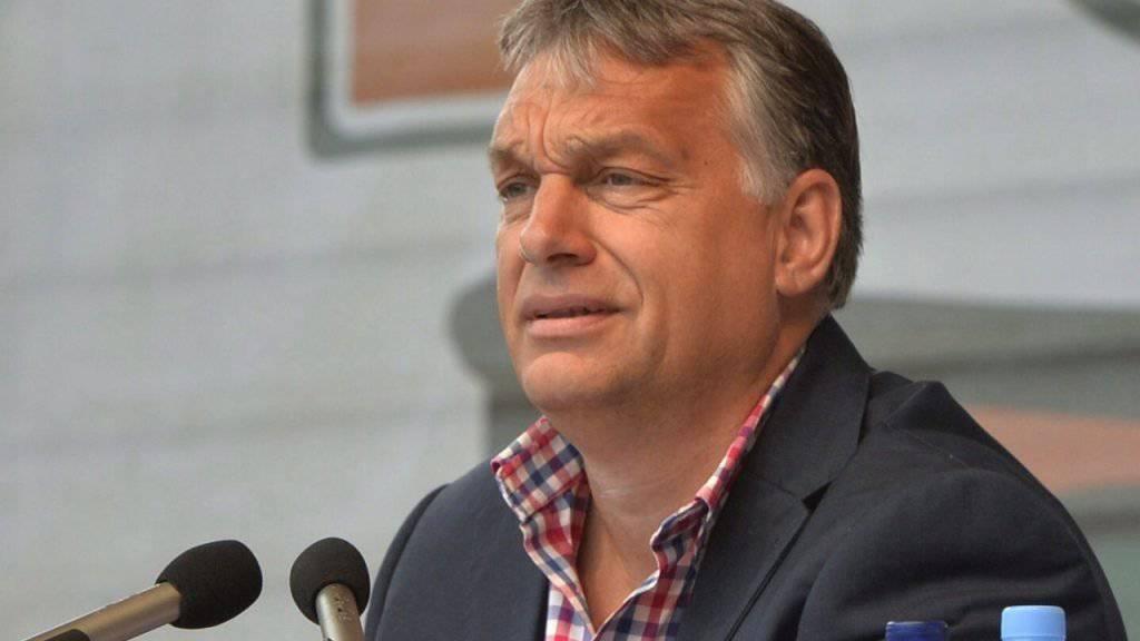 Der ungarische Ministerpräsident Viktor Orban sieht die Führungsspitze der EU wegen ihrer  Flüchtlingspolitik als gescheitert.
