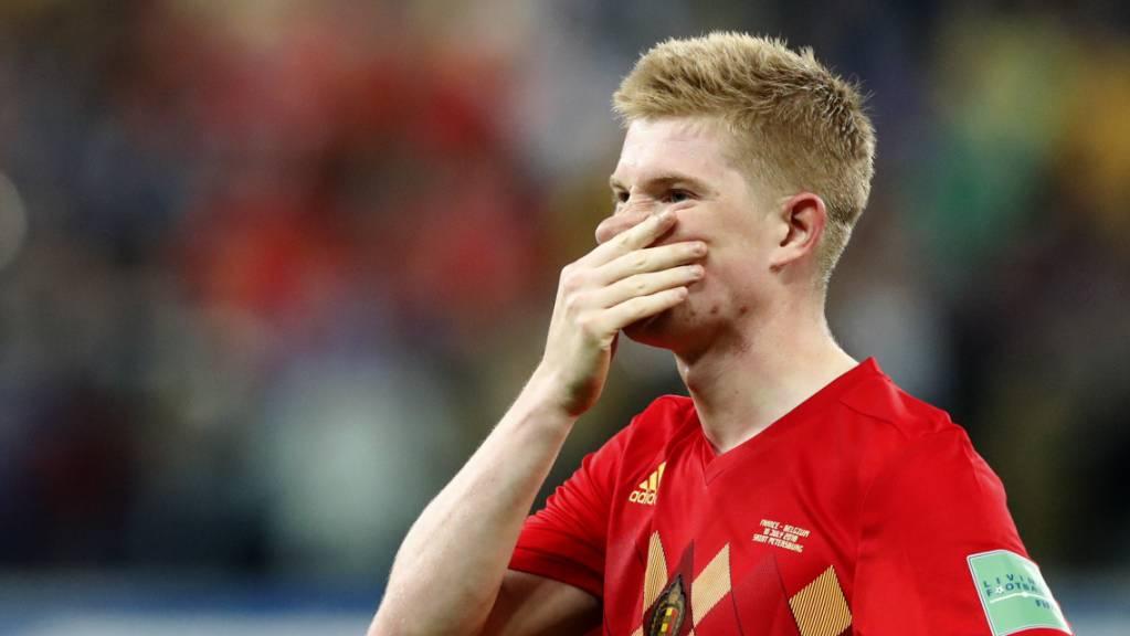 Kevin de Bruyne fehlt Belgien im ersten EM-Spiel. (Archivbild)