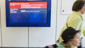SBB-Verspätungsmeldung am Bahnhof Olten (Symbolbild)