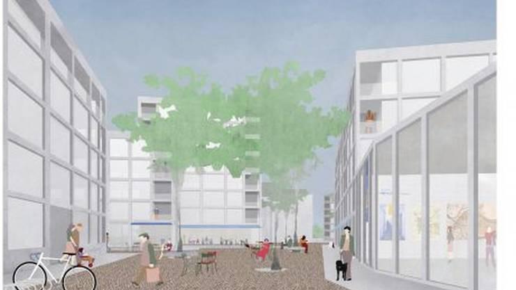 So stellen sich Westpol Landschaftsarchitekten das Birsfelder Zentrum vor.