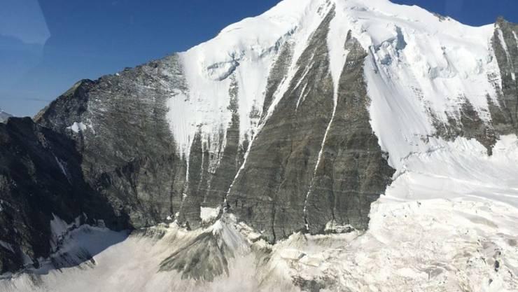 Der 4505 Meter hohe Gipfel des Weisshorns zwischen Mattertal und Val d'Anniviers im Wallis.