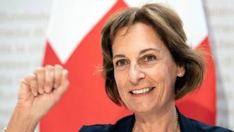 Monica Duca Widmer an der gestrigen Medienkonferenz in Bern.