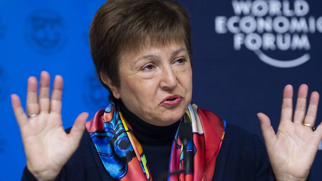 Die Chefin des Internationalen Währungsfonds IWF, Kristalina Georgieva, warnt davor, dass sich ärmere Länder schwerer von der Krise erholen als die reichen Ländern. (Archivbild vom WEF in Davos im Januar 2020).