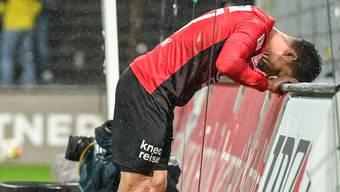 Der Zustand des FC Aarau (hier Patrick Rossini) ist nur noch zum Wegschauen.