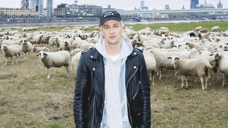 Rapper Dendemann posiert in Köln.