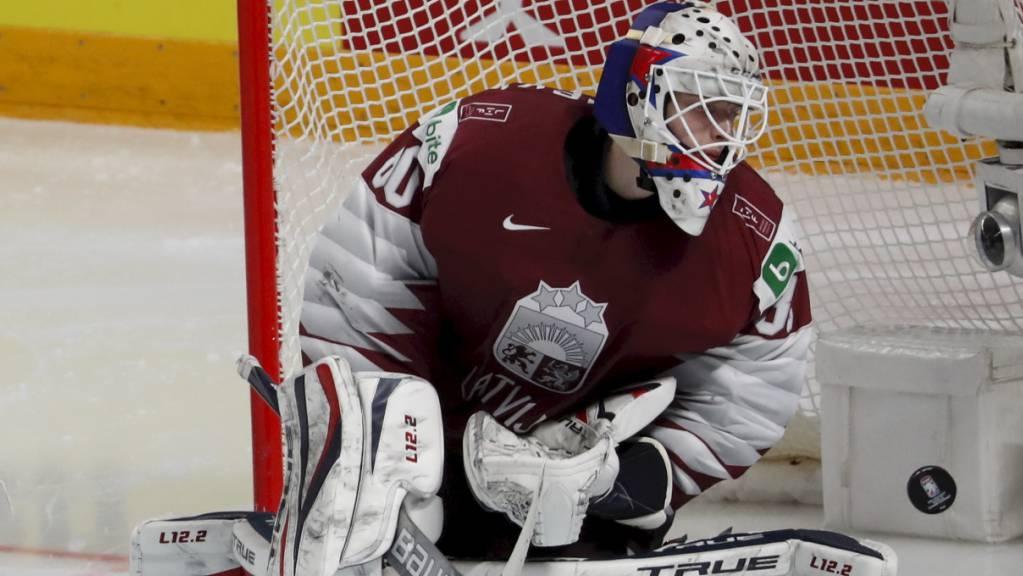 An der WM in Riga hütete Matiss Kivlenieks noch das lettische Tor, nun ist er tödlich verunfallt