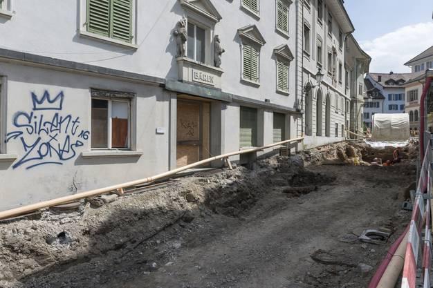 Vor dem «Bären» stiess die Kantonsarchäologie auf römische Gebäudereste.
