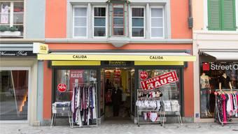 Aus nach 20 Jahren: Brunner's Bodywear an der Weiten Gasse schliesst Ende August seine Türen. Claudio Thoma