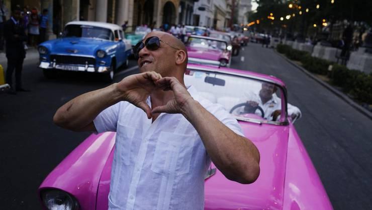 US-Schauspieler Vin Diesel hat das Flirten im Blut: Bei einem Interview in Brasilien machte er die Fragestellerin mehr als verlegen. (Archivbild)