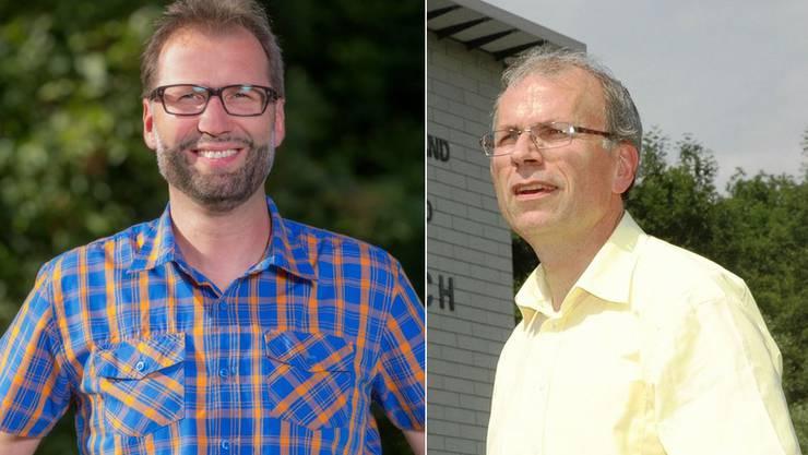 Die SP könnte den freiwerdenden Sitz von Heinz Wipfli (rechts) übernehmen, findet Fraktionspräsident Paul Bitschnau (links).