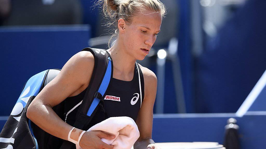 Viktorija Golubic muss in China die Segel streichen. (Archivbild)