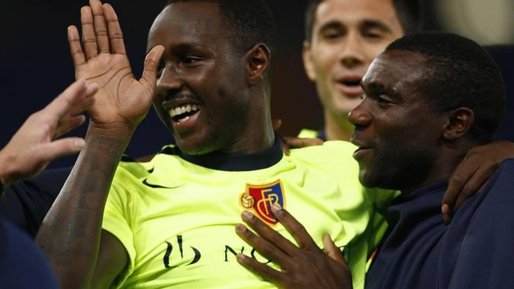 Damals noch im Basler Dress: Cabral feiert den dritten FCB-Treffer am 19. Oktober 2010 beim 3:1-Sieg gegen die AS Rom.