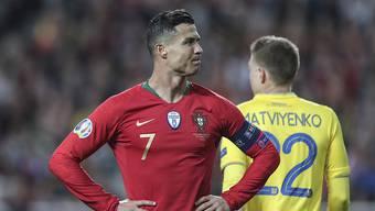 Cristiano Ronaldo und Titelverteidiger Portugal starteten mit einer Enttäuschung in die EM-Qualifikation